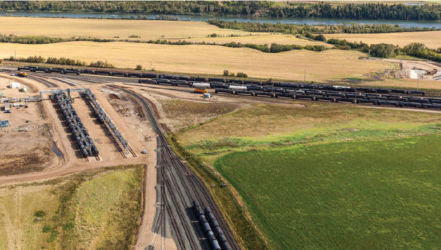 Pembina Redwater Rail Yard Image